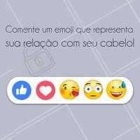 E aí, qual emoji te representa nesse momento? Comenta aqui! #cabelo #ahazou #emoji