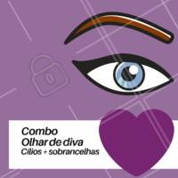 Um combo é um combo, né amores? Aproveite e agende seu horário hoje mesmo. #sobrancelhas #ahazousobrancelha #design #combo