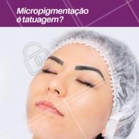 NÃO!  No processo da micropigmentação, os pigmentos são depositados na camada mais superficial da pele: na epiderme, onde há renovação celular. Já a tatuagem, é realizada na Derme, camada mais profunda da pele, onde não há tanta renovação celular. Por isso, o procedimento de micropigmentação precisa de retoques ao longo do tempo!  #micropigmentaçao #ahazousobrancelha #sobrancelha #designdesobrancelha