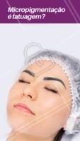 NÃO!  No processo da micropigmentação, os pigmentos são depositados na camada mais superficial da pele: no início da derme, onde há renovação celular. Já a tatuagem, é realizada na Derme, camada mais profunda da pele, onde não há tanta renovação celular. Por isso, o procedimento de micropigmentação precisa de retoques ao longo do tempo!  #micropigmentaçao #ahazousobrancelha #sobrancelha #designdesobrancelha