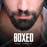 """Barba cheia, um pouco comprida e com o aspecto """"sombreado"""" causado pela quantidade de pelos ✂ Agende seu horário. #homens #ahazoubarbearia #barba #boxed #estilomasculino"""