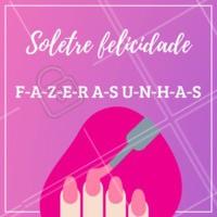 O dia fica muito mais alegre e colorido quando você faz as unhas! #unhas #ahazou #manicure #pedicure