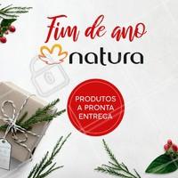 Natal é a época perfeita para presentear quem você mais ama com produtos Natura! Temos a pronta entrega. Entre em contato para saber mais! #natura #ahazou #revendedoras #natal #presentes