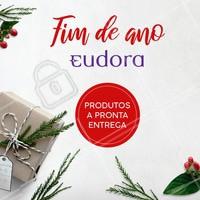 Natal é a época perfeita para presentear quem você mais ama com produtos Eudora! Temos a pronta entrega. Entre em contato para saber mais! #eudora #ahazou #revendedoras #natal #presentes
