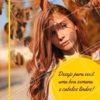 Uma semana linda para nós e cabelos ainda mais lindos! 🙏💁 #cabelo #ahazou #motivacional