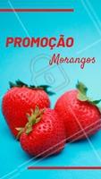 Aproveite a promoção especial dos morangos! Hmmm 🍓 #morango #ahazou #promoção #feira #fruta #frutaria