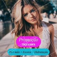Aproveite! Promoção válida de terça a quinta, precinhos especiais que você não pode perder. Agende já seu horário conosco! #salao #ahazou #cabelo #beleza #escova #hidrataçao #manicure #pedicure #ahazoucabelo