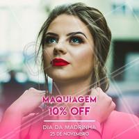 Já que dia 25 de novembro é o dia da Madrinha, estamos com uma promoção de 10% OFF em qualquer serviço de maquiagem. Agende seu horário! #make #diadamadrinha #ahazouapp #maquiagem #promocao