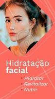 Sua pele está ressecada e sem vida? Na primeira sessão de hidratação facial já é possível notar as diferenças na pele: mais viço e firmeza! Agende sua sessão. #hidrataçaofacial #ahazou #esteticafacial