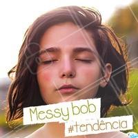 Você já conhece o messy bob? Esse corte é a versão mais despojada do famoso long bob ar mais moderno e juvenil. Aposte! #messybob #ahazou #longbob #corte #cabelo