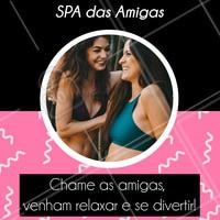 Que tal aproveitar um dia delicioso com as amigas? Venham se cuidar, fofocar e relaxar num SPA Day especial! #spaday #ahazou #estetica #spa #esteticacorporal