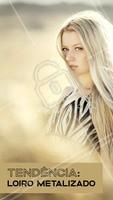 O loiro metalizado ilumina os fios, com mechas que cria mo efeito do brilho de metais preciosos, como ouro, prata e bronze! Que tal apostar nessa tendência? #loiro #ahazou #loirometalizado #coloraçao #cabelo