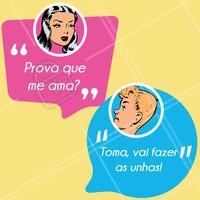 Hahaha tem prova maior de amor? 😂 #manicure #ahazou #engraçado #unhas