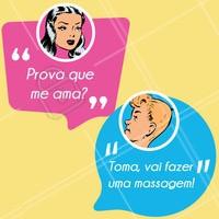 Hahaha tem prova maior de amor? 😂 #massagem #massoterapia #ahazou #engraçado