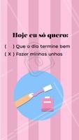 Hahaha bora agendar seu horário? #manicure #unha #ahazoumanicure