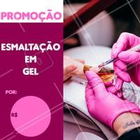 Venha fazer as unhas com esmalte em gel com desconto! #manicure #ahazou #pedicure #desconto #promocao #nails #unhas