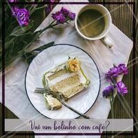 Hora do café? Não tem nada melhor que um bolo delicioso pra acompanhar! Peça já o seu. #bolo #cafe #ahazou #cafedatarde #bolos #boloscaseiros
