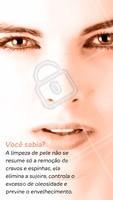 Limpeza de pele é tudo! Agende já a sua e vem conhecer o poder desse tratamento 😉 #limpezadepele #ahazou #Pele #esteticafacial