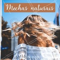 Quem aí tem amado essa tendência de mechas mais naturais, presente principalmente nas pontas dos fios? Esse efeito ilumina o rosto e traz movimento ao cabelo! #cabelo #ahazou #mechas