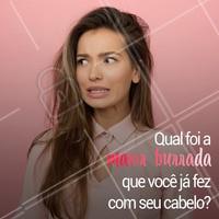 Quem nunca, né? Conta aqui nos comentários! 👇 #cabelo #ahazoucabelo #cabeleireiro #salaodebeleza #beleza