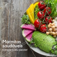 Nossas marmitas saudáveis são feitas com muito carinho, para sua alimentação ser completa com cores e sabores. #gastronomia #marmitas # comidasaudavel #ahazougastronomia #saude #fitness