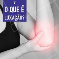 Luxação é o deslocamento de uma articulação do osso e acontece geralmente por conta de um impacto inesperado! Procure um profissional para reposicionar corretamente a articulação e receber as orientações corretas. #luxaçao #ahazou #fisioterapia