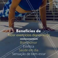 Fazer exercícios regularmente faz bem só traz benefícios! Seja ativo! #exercicios #ahazou #saude #bemestar