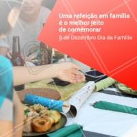 Felicidade é comida boa + família reunida #diadafamilia #ahazouapp #food