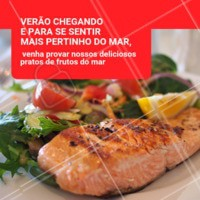 Verão + frutos do mar é a melhor combinação que existe! Traga a família e venha curtir o verão com a gente #restaurante #frutosdomar #ahazouapp #verao