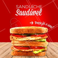 Quem disse que saudável não pode ser delicioso? Experimente nossos sanduíches saudáveis! #sanduichesaudavel #comidasaudavel #ahazou #saudavel #saude #ahazougastronomia
