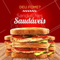 Peça já o seu sanduíche saudável e mate sua fome! 🥪 #sanduiche #comidasaudavel #ahazou #alimentaçao #saudavel #lanchesaudavel #ahazougastronomia