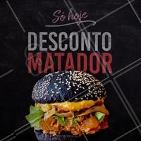 Aproveite o desconto do dia para comer aquele hambúrguer!! #hamburguer #promocao #ahazouapp #gastronomia