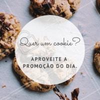 Só hoje! Compre 3 e leve 5. Aproveite. #cookies #amorporcookies #doces #ahazouapp #promocao
