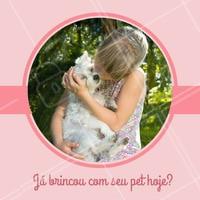 Brincar com seu pet todos os dias é super importante! #pet #ahazoupet #animal #petshop