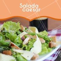 Quem não ama uma salada caesar? 😍 #salada #ahazou #comidasaudavel #saude #fitness