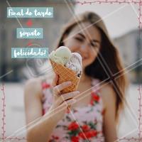 Final de tarde + sorvete = felicidade! Concordam? 🍦😍 #sorvete #sorveteria #doces #ahazouapp #felicidade #icecream