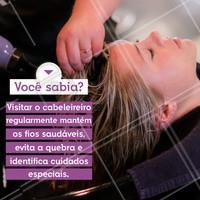 Dica de profissional, hein? 😉 #cabeleireiro #ahazoucabelo #cabelo