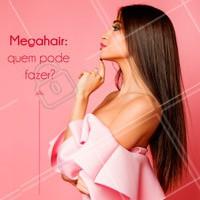 O megahair pode ser aplicado em todos os tipos de cabelos: ralos, curtos, crespos ou ondulados. O megahair não é indicado apenas para cabelos muito frágeis, precisando de uma avaliação prévia. É uma alternativa maravilhosa pra quem sonha com o cabelão volumoso e longo, mas tem dificuldades para o crescimento! #megahair #cabelo #ahazoucabelo