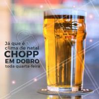 O clima é de Natal e você tem mais um motivo para curtir a noite aqui com a gente, toda quarta-feira o seu chopp é em dobro! Traga os amigos para comemorar com você. #chopp #ahazoubeer #gastronomia