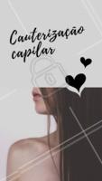 A cauterização é um tratamento que age profundamente na fibra capilar, devolvendo toda a queratina que ela precisa para ficar forte e saudável! #cauterizaçao #cuidadoscomocabelo #cabelo #cabeleireiro #ahazoucabelo