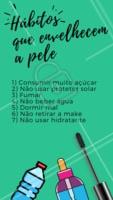 E aí, quantos desses hábitos você tem feito? 😱 #esteticafacial #ahazouestetica #rejuvenescimento #envelhecimento #cuidadoscomapele