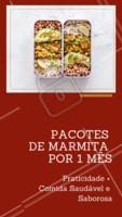Praticidade + Comida saudável e saborosa! Entre em contato para saber mais ☎️ XXXXXX #marmitas #comidasaudavel #ahazouapp #food