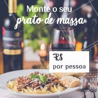 A sua massa, do seu jeito! Venham experimentar! #massas #food #ahazouapp #gastronomia