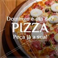 🍕 Peça já a sua! ☎️ XXXXXX #pizza #pizzaria #ahazouapp #delivery