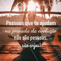 Vocês são anjos! #motivacional #evolucao #energia #ahazouapp #ahazousaude #anjos #jornada