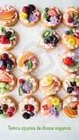 Para os vegetarianos e veganos, temos opções de doces para vocês. #doces #vegano #ahazouapp #veggiefood