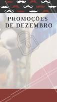 Aproveite as promoções desse mês e agende seu horário! #barbearia #ahazou #dezembro #promoçao