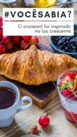 O croissant foi inventado na Áustria durante o ano de 1869, criado para marcar a vitória do exército austríaco sobre os turcos otamanos, a pedido do imperador! #croissant #ahazoutaste #comida #alimentaçao