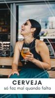 É ela quem trás aquela alegria e que quando falta, deixa a gente mal 😂. #cerveja #ahazougasttronomia #alegria