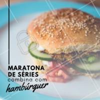 Aquele momento em que a mente relaxa e a fome se acalma! #burguer #ahazougastronomia #maratonadeseries